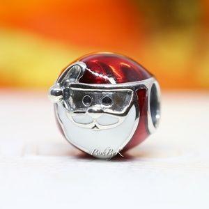 Pandora Silver Jolly Santa Charm 791405ENMX